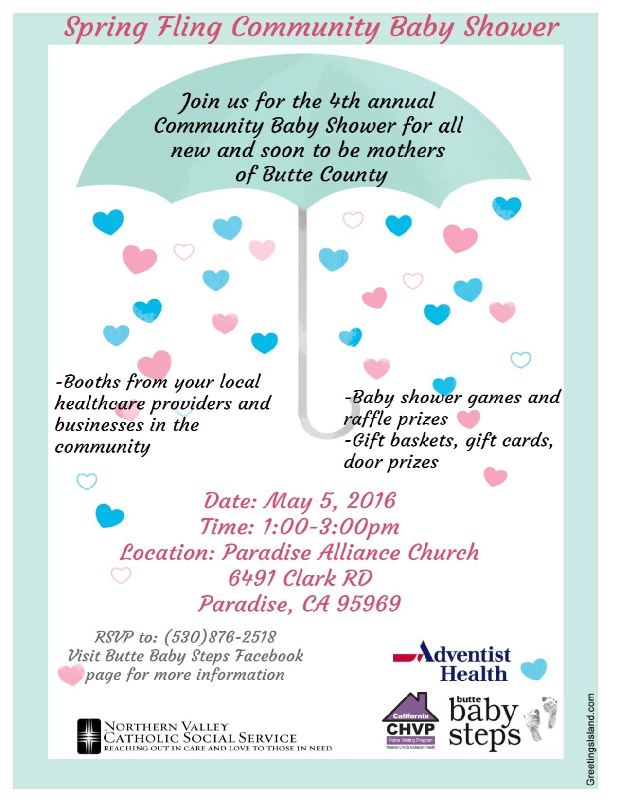 community baby shower paradise may 5