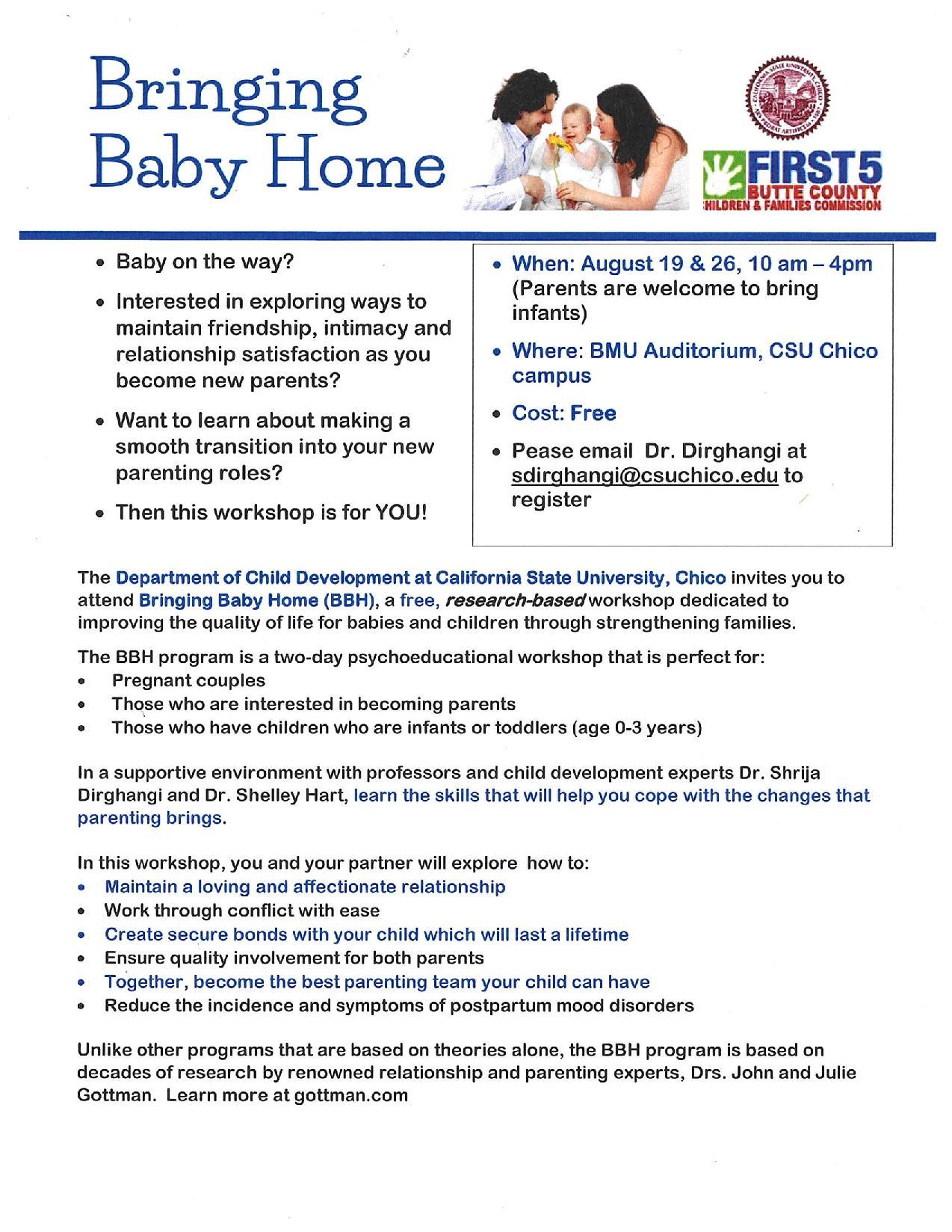 Bringing Baby Flyer